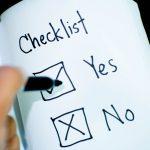 Checkliste mit Ankreuzfeldern Ja Nein