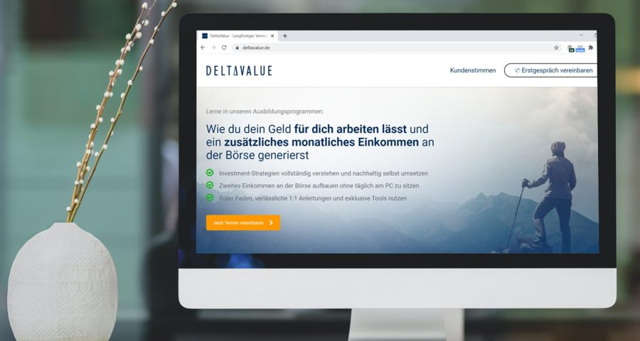 Mockup Deltavalue Website